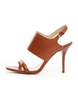 KORS Michael Kors  Hutton Leather Slingback Sandal