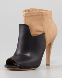 Maison Martin Margiela Two-Tone Stretch Leather Bootie