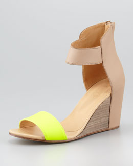 MM6 Maison Martin Margiela Fluorescent-Strap Cuffed Wedge