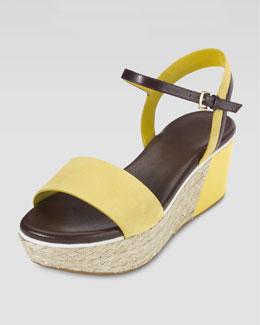 Cole Haan Arden Nubuck Wedge Sandal, Sunlight