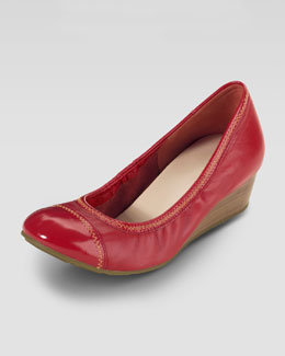 Cole Haan Milly Cap-Toe Wedge Pump, Cherry Tomato