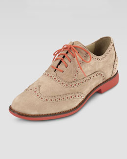 Cole Haan Gramercy Nubuck Oxford, Sandstone/Orange