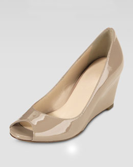 Cole Haan Air Talia Wedge Peep-toe Pump, Sandstone