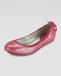 Cole Haan Air Bacara Backlace Ballet Flat, Cherry Tomato Snake Print