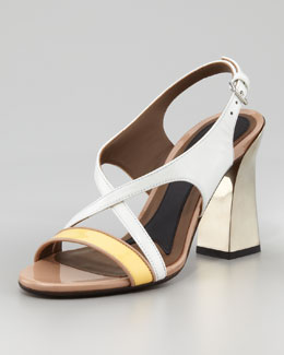 Marni Mirror-Heel Patent Leather Sandal