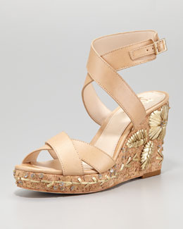VC Signature Mira Detailed Cork Wedge Sandal