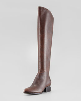 Alexander Wang Sigrid Back-Zip Knee Boot, Brown