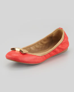 Tory Burch Eddie Bow Ballerina Flat, Cherry Wine