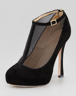 kate spade new york neveah mesh t-strap bootie