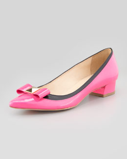 kate spade new york anika patent bow pump