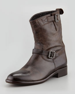 Belstaff Bedford Flat Buckle Boot, Brown