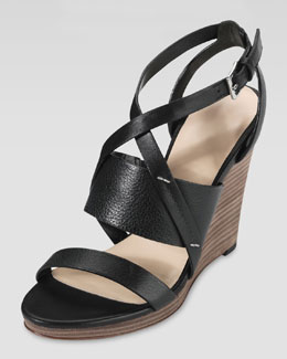Cole Haan Pelham Wedge Sandal, Black