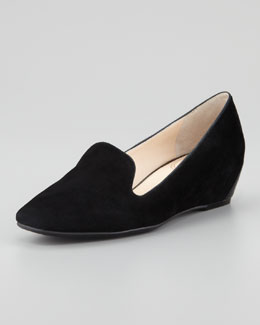 VC Signature Mabel Suede Wedge Smoking Slipper
