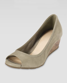 Cole Haan Air Tali Suede Wedge Pump, Summer Khaki