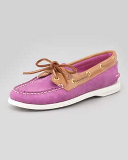 Sperry Top-Sider American Original Sparkle Suede Boat Shoe, Pink