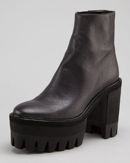 Stella McCartney Maxi-Tred Platform Ankle Boot, Black