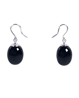 Baccarat Mini Tentation Earrings, Onyx