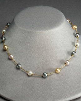 Majorica Mixed Pearl Illusion Necklace