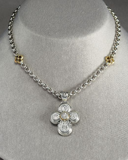 Konstantino Diamond Cross Pendant