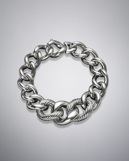 David Yurman Graduated Curb Chain Bracelet, Extra Large