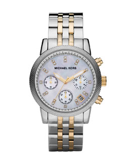 Michael Kors Two-Tone Chronograph Watch