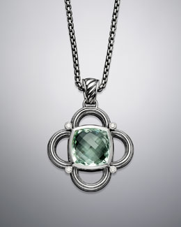 David Yurman Color Classics Enhancer, Prasiolite, 17 mm