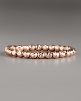 Lana Olivia Bead Ring, Rose Gold