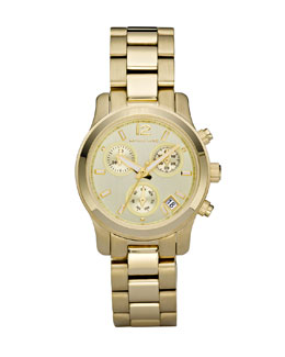 Michael Kors  Round Watch, Golden