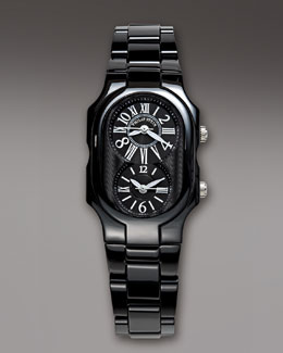 Philip Stein Small Ceramic Watch, Black