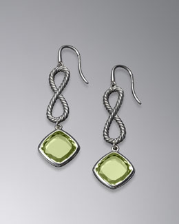 David Yurman Confetti Figure-Eight Drop Earrings with Prasiolite