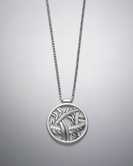David Yurman Papyrus Pendant, Pave Diamonds, 17""