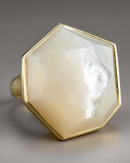 Ippolita Large Faceted Mother-of-Pearl Ring