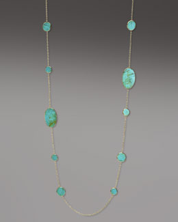 "Ippolita Polished Rock Candy Turquoise Necklace, 37""L"