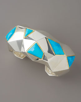 Kara Ross Faceted Turquoise Cuff, Large