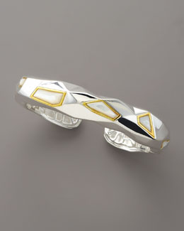 Kara Ross Faceted Mother-of-Pearl Cuff, Medium