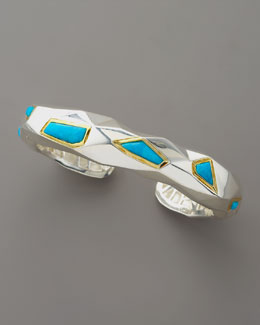 Kara Ross Faceted Turquoise Cuff, Medium