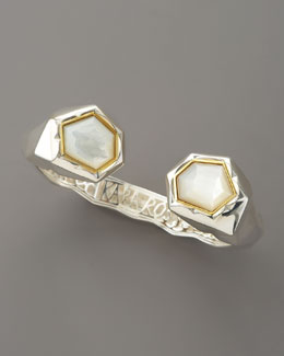 Kara Ross Faceted Mother-of-Pearl Kick Cuff
