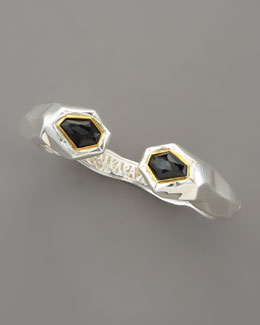 Kara Ross Faceted Black Onyx Kick Cuff