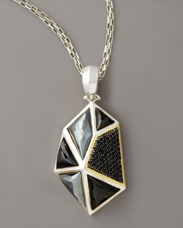 Kara Ross Faceted Onyx Pendant Necklace, Large