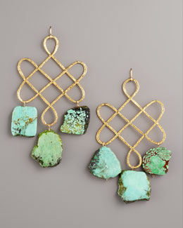 Devon Leigh Knotted Turquoise Earrings