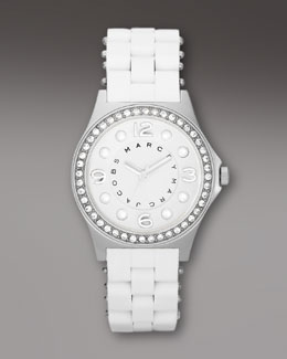 MARC by Marc Jacobs Crystal-Faced Pelly Watch