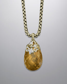 David Yurman Tapestry Enhancer, Champagne Citrine
