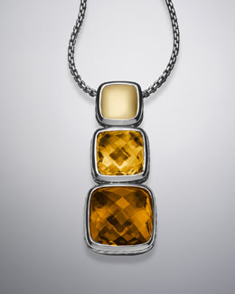 "David Yurman Chiclet Necklace, Citrine, 18""L, Large"