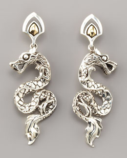 John Hardy Gold/Silver Dragon Drop Earrings