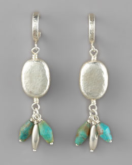 Gurhan Dalian Turquoise & Silver Drop Earrings
