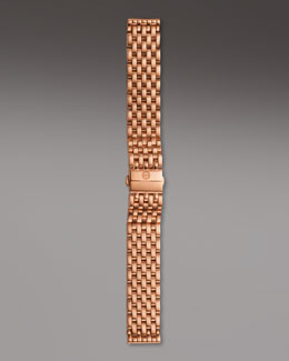 Michele 18mm Caber Bracelet Strap, Rose