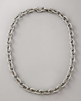 Armenta Pave Diamond-Link Necklace, Small