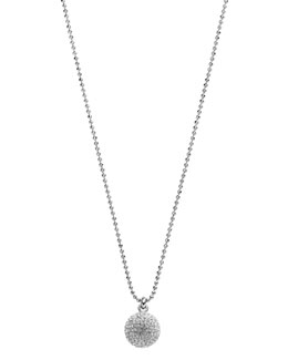Michael Kors  Pave Fireball Necklace, Silver