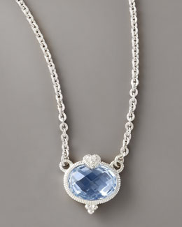 Judith Ripka Heart & Quartz Pendant Necklace