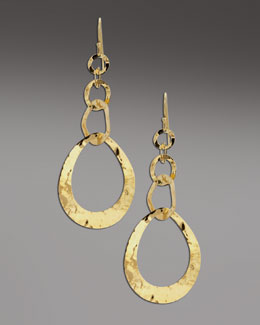 Ippolita Hammered Gold Drop Earrings